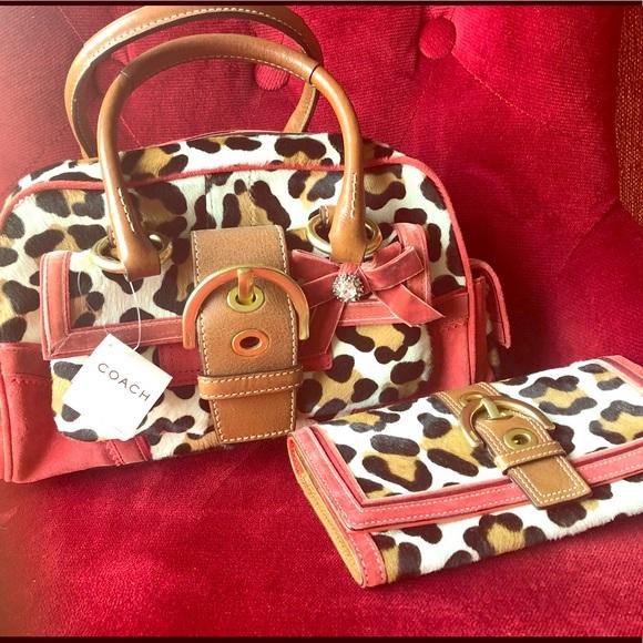 684a4c471d6 Coach Bags   Soho Ocelot Leopard Satchel With Wallet   Poshmark